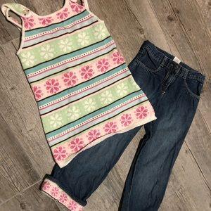 Girls' Gymboree Jeans Sweater Tank Set 5T